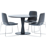 Tables Chairs Poliform Ventura, Flute