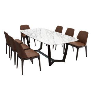 Poliform Grace chair Concorde table set3